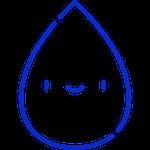 friendly water drop emoji